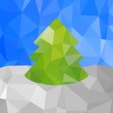Árbol de navidad Estilo poligonal Fotografía de archivo libre de regalías
