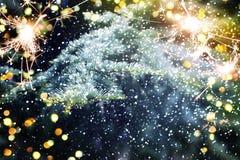 Árbol de navidad Feliz Año Nuevo Foto de archivo libre de regalías