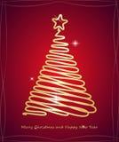 Árbol de navidad Feliz Navidad y Feliz Año Nuevo Ilustración del vector Imagen de archivo