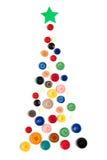 Árbol de navidad hecho con los botones coloreados Imagen de archivo