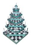Árbol de navidad hecho de ajedrez Foto de archivo libre de regalías