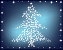 Árbol de navidad hecho de estrellas Imagen de archivo libre de regalías