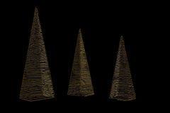 Árbol de navidad hecho fuera de luces Foto de archivo libre de regalías