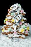 Árbol de navidad hecho a mano del pan de jengibre Foto de archivo libre de regalías