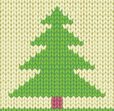 Árbol de navidad hecho punto Imagen de archivo libre de regalías