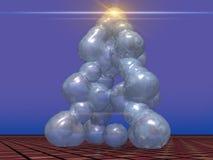 Árbol de navidad helado Foto de archivo libre de regalías