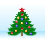 Árbol de navidad hermoso Foto de archivo