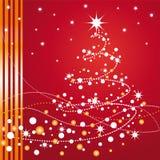Árbol de navidad hermoso Imágenes de archivo libres de regalías