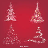 Árbol de navidad, ilustración del vector Imagenes de archivo
