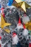 Árbol de navidad interior de Papá Noel del lugar de Hyatt de la estrella de LONGHU en la Navidad 2012 Imagenes de archivo