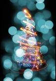 Árbol de navidad de las luces del color Fotos de archivo libres de regalías