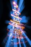 Árbol de navidad de las luces del color Imágenes de archivo libres de regalías