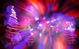 Árbol de navidad de las luces del color Imagenes de archivo