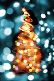Árbol de navidad de las luces del color Imagen de archivo