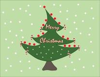 Árbol de navidad lindo para su usted amigos y familia stock de ilustración
