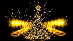 Árbol de navidad mágico almacen de video