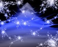 Árbol de navidad mágico La Navidad la Navidad abstracta t Fotos de archivo libres de regalías