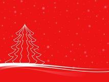 Árbol de navidad mínimo 3D Fotos de archivo libres de regalías