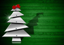 Árbol de navidad metálico y estilizado stock de ilustración