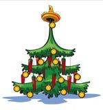 Árbol de navidad mexicano ilustración del vector