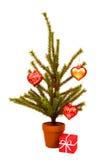 Árbol de navidad miniatura Foto de archivo libre de regalías