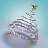 Árbol de navidad moderno stock de ilustración