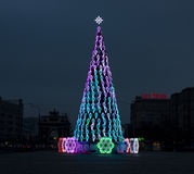 Árbol de navidad, Moscú Fotos de archivo libres de regalías