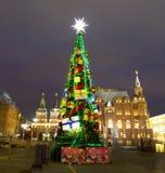 Árbol de navidad, Moscú Imagenes de archivo