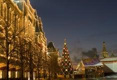 Árbol de navidad, Moscú Foto de archivo libre de regalías