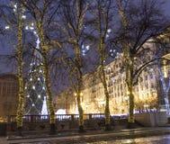 Árbol de navidad, Moscú Fotos de archivo