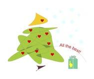 Árbol de navidad o una vela Foto de archivo libre de regalías