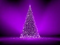 Árbol de navidad púrpura abstracto en púrpura. EPS 8 Fotos de archivo libres de regalías