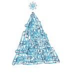 Árbol de Navidad para el negocio Imagen de archivo