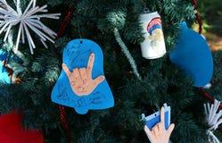 Árbol de navidad patriótico en fuerte Myers, la Florida, los E.E.U.U. Fotografía de archivo libre de regalías