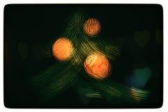 Árbol de navidad pintado con efectos de lujo Decoraciones rojas Imagen de archivo libre de regalías
