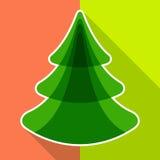 Árbol de navidad plano Fotografía de archivo