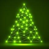 Árbol de navidad poligonal abstracto Foto de archivo