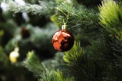 Árbol de navidad por el Año Nuevo fotografía de archivo