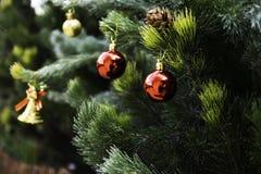 Árbol de navidad por el Año Nuevo imagen de archivo libre de regalías