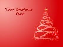 Árbol de navidad que brilla intensamente Imagen de archivo libre de regalías