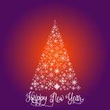 Árbol de navidad que consiste en los copos de nieve Fotos de archivo libres de regalías