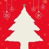 Árbol de navidad rasgado | Rojo Fotos de archivo