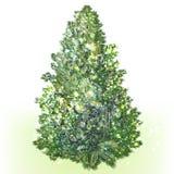 Árbol de navidad realista del vector verde aislado en blanco libre illustration