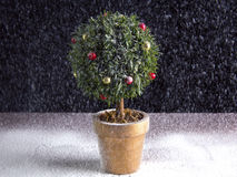 Árbol de navidad redondo Imágenes de archivo libres de regalías