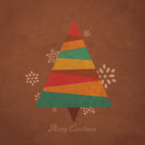 Árbol de navidad retro Foto de archivo