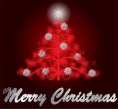 Árbol de navidad rojo Imagen de archivo libre de regalías