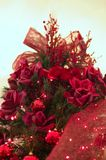 Árbol de navidad rojo foto de archivo libre de regalías
