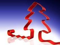 Árbol de navidad rojo ilustración del vector