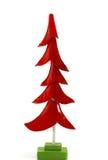 Árbol de navidad rojo Fotos de archivo