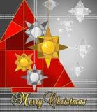 Árbol de navidad rojo Imagenes de archivo